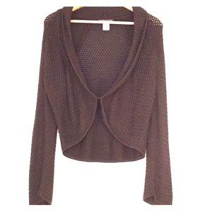Sigrid Olsen Silk Blend Sweater Cardigan